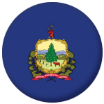 Vermont State Flag 58mm Mirror Keyring